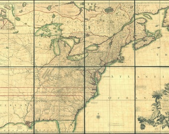 Poster, Many Sizes Available; Map Of North America Pre United States 1755 P4