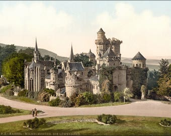 Poster, Many Sizes Available; Loewenburg Castle In Kassel 1890 Photochrom