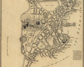 Poster, Many Sizes Available; Map Of Boston, 1775