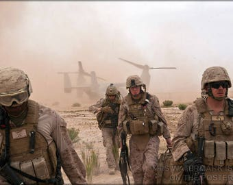 Poster, Many Sizes Available; Marines In Afghanistan V-22 Osprey