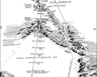 Poster, Many Sizes Available; Map Of Roald Amundsen'S South Pole Expedition 1911