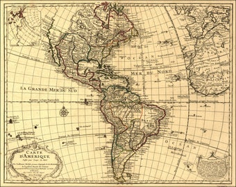 Poster, Many Sizes Available; Map Of North & South America; United States  1780