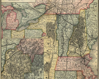 Poster, Many Sizes Available; Map Of The Boston And Lowell Railroad 1886