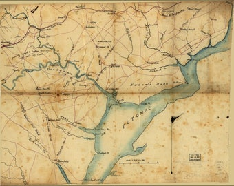 Poster, Many Sizes Available; Map Fairfax & Prince William Co'S Virginia 1865