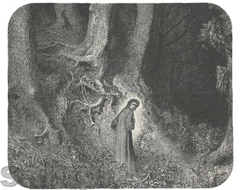Mouse Pad; Divine Comedy (1861–1868); Here Dante Is Lost In Canto 1 Of The Inferno By Gustave Dore
