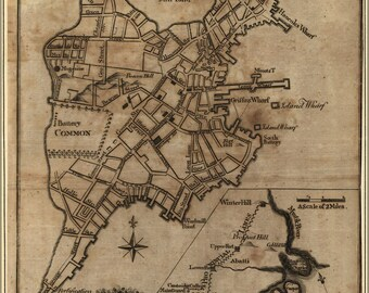 Poster, Many Sizes Available; Revolutionary War Map Of Boston, And Provincial Camp 1775