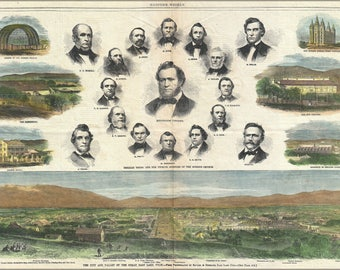 Poster, Many Sizes Available; 1866 Harper'S Weekly View Of Salt Lake City, Utah W Brigham Young Mormonssaltlakecity Harpersweekly 1866