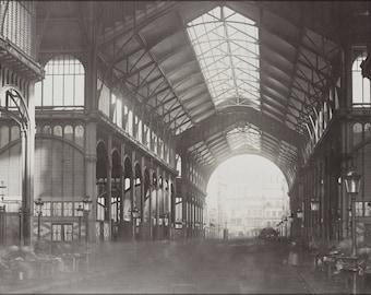 Poster, Many Sizes Available; Les Halles, Central Market, Paris, France. 1870