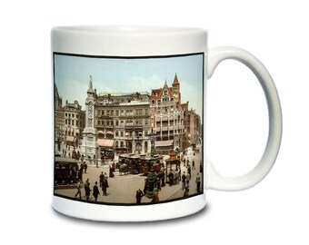 Coffee Mug; Dam Square Amsterdam Photochrom Of Dam Square, Amsterdam, C. 1890–1900
