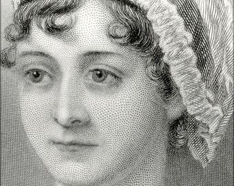 Poster, Many Sizes Available; Jane Austen 1870 Cropped