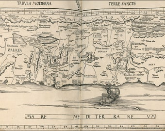 Poster, Many Sizes Available; Map Of Israel 1513