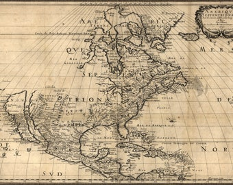 Poster, Many Sizes Available; Map Of North America Pre United States  1650
