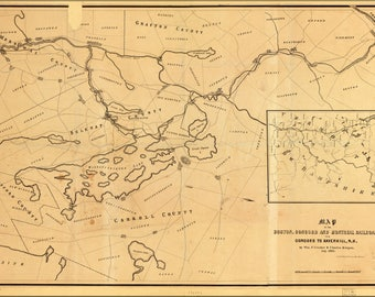 Poster, Many Sizes Available; Map Of Boston Concord Railroad New Hampshire 1845