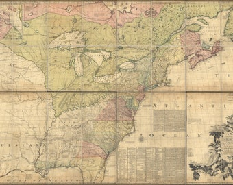 Poster, Many Sizes Available; Map Of North America Pre United States 1774