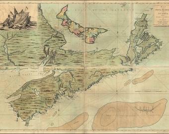 Poster, Many Sizes Available; Map Of Nova Scotia Cape Breton 1768 P2