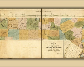 Poster, Many Sizes Available; 1834 Map Of The New York And Erie Railroad