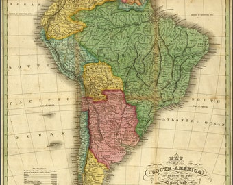 Poster, Many Sizes Available; Map Of South America 1826