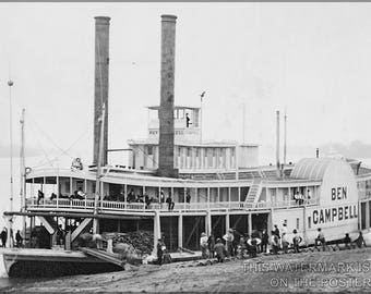 Poster, Many Sizes Available; Ben Campbell Steamship 1850S