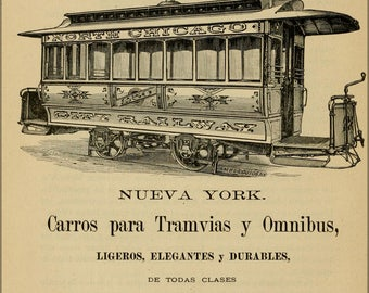 Poster, Many Sizes Available; Horse Tram North Chicago Railway Guide To Havana