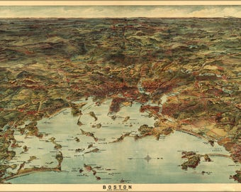 Poster, Many Sizes Available; Map Of Boston And Environs 1905