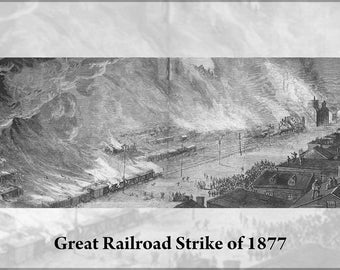 Poster, Many Sizes Available; Burning Of Pennsylvania Railroad And Union Depot, Pittsburgh, Pennsylvania Great Railroad Strike Of 1877 P3