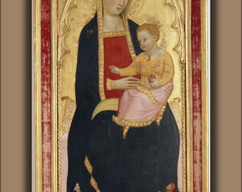Poster, Many Sizes Available; 3 Cecco Di Pietro, Madonna With Child 1386