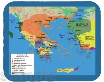 Mouse Pad; Greece 200 Bc Macedonia And The Aegean World C.200 Mp1