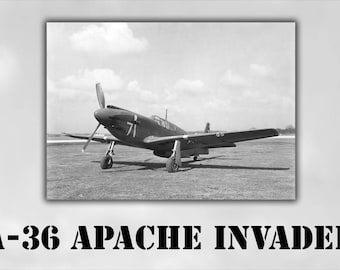 Poster, Many Sizes Available; A-36 Apache Invader