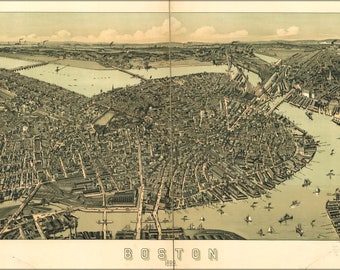 Poster, Many Sizes Available; Map Of Boston 1899
