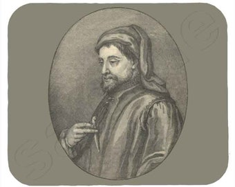 Mouse Pad; Chaucer