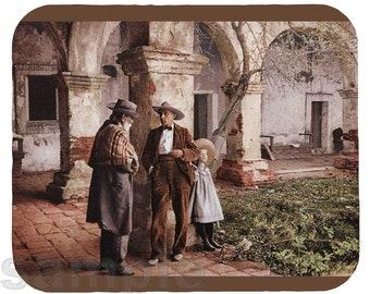 Mouse Pad; San Juan Capistrano Mission Old Caretaker At Mission San Juan Capistrano, A Photochrom 1900