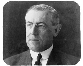 Mouse Pad; Woodrow Wilson