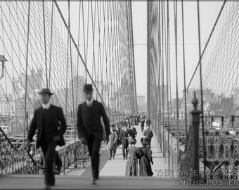Poster, Many Sizes Available; Brooklyn Bridge, New York, N.Y C1900