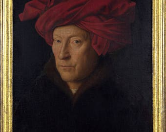 Poster, Many Sizes Available; Portrait Of A Man In A Turban, Oil Painting By Jan Van Eyck (1433)