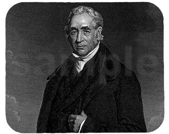 Mouse Pad; George Stephenson