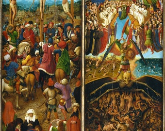 Poster, Many Sizes Available; The Crucifixion; The Last Judgment, part of a triptychon by Jan van Eyck