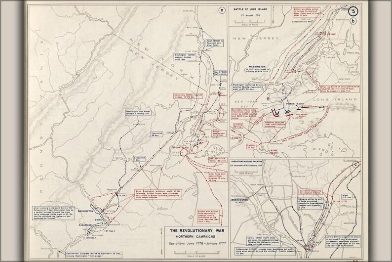 Map Of New York Revolutionary War.Poster Many Sizes Available Map Of Revolutionary War New York And Trenton 1776 1777