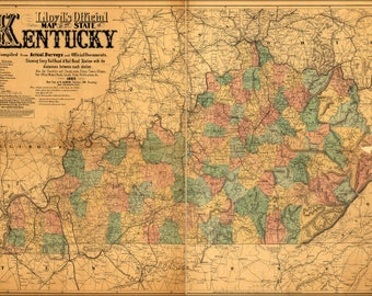 Poster, Many Sizes Available; Lloyd'S Official Map Of Kentucky 1862 P1