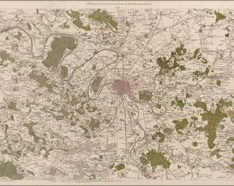 Poster, Many Sizes Available; Map Of Paris France 1756