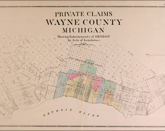 Poster, Many Sizes Available; Map Of Wayne County And City Of Detroit 1891