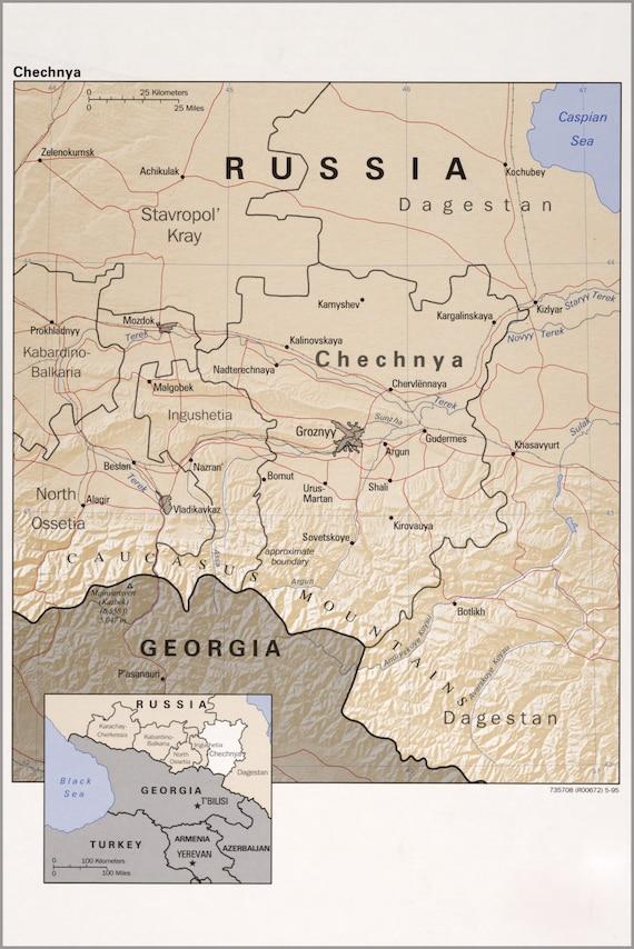 Cartina Muta Ucraina.Cecenia Mappa
