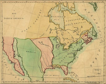 Poster, Many Sizes Available; Map Of North America 1803 Pre United States