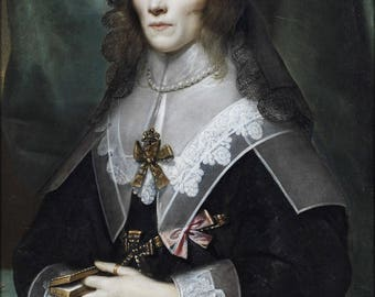 Poster, Many Sizes Available; Henrietta Maria Of France In Mourning