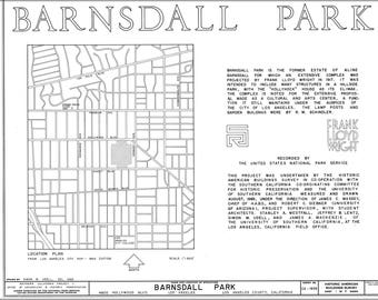 Poster, Many Sizes Available; Barnsdall Park, 4800 Hollywood Boulevard, Los Angeles, Los Angeles County, Ca Habs Cal,19-Losan,55- (Sheet 1 O