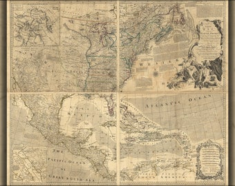 Poster, Many Sizes Available; Map Of North America Pre United States 1768 P2