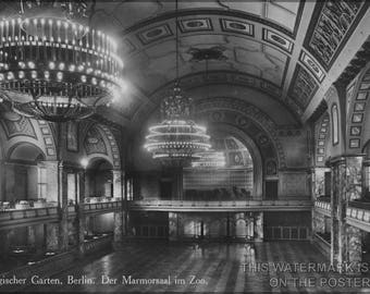 Poster, Many Sizes Available; Marmorsaal (Marble Hall) In The Berlin Zoological Garden, Here Shown In A 1900 Postcard - Copy