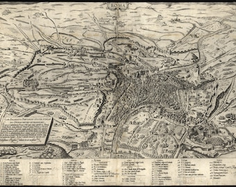 Poster, Many Sizes Available; Map Of Rome, Italy, 1561