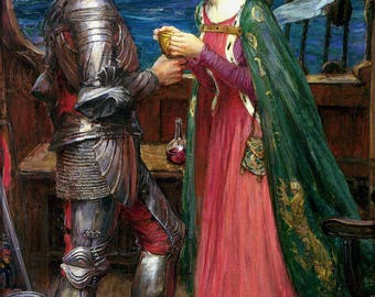 Poster, Many Sizes Available; Tristan And Iseult. John William Waterhouse, 1916 King Arthur And Knights Of Camelot