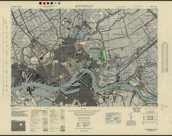 Poster, Many Sizes Available; Rotterdam, Holland 1943 Us Army Map