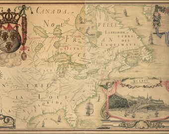 Poster, Many Sizes Available; Map Of North America Pre United States 1688